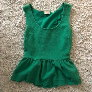 Anthropologie Peplum Top with Scallop Details